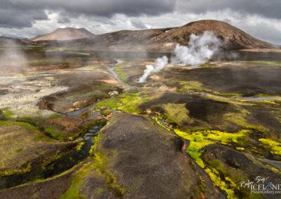 Hrafntinnusker Geothermal valley in the Highlands │ Iceland La