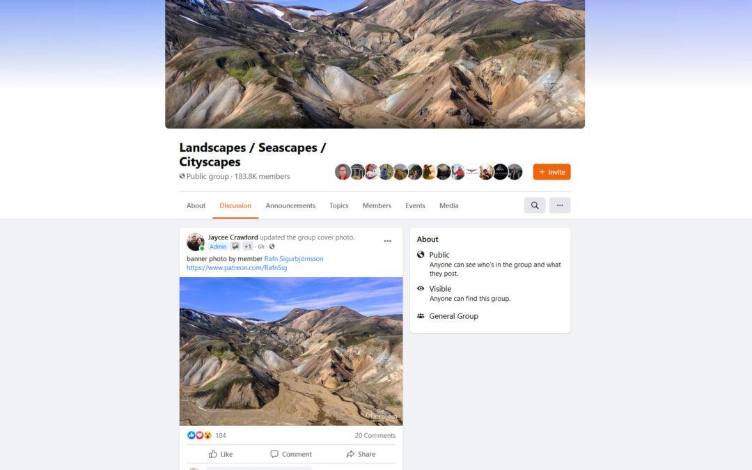 Landscapes – Seascapes – Cityscapes cover Banner