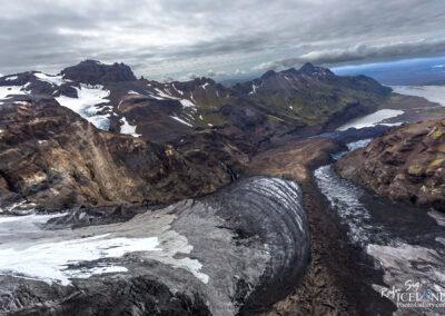 Morsájökull Glacier outlet │ Iceland Landscape from Air