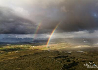 Rainbow over Hólmshraun lava field│ Iceland Landscape from Ai