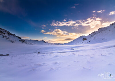 Snowy valley of Hengill area│ Iceland Landscape From Air