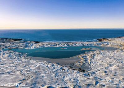 Stóra Sandvík│ Iceland Landscape winter from air